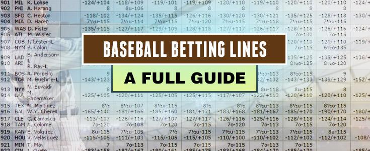 Understanding betting lines baseball bettinger s greenhouses
