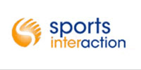 sports interaction logo white
